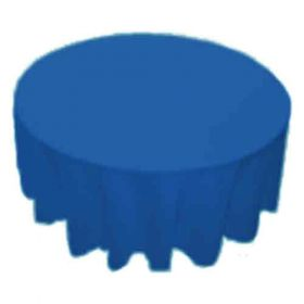108 in. Round Polyester Tablecloth Royal Blue