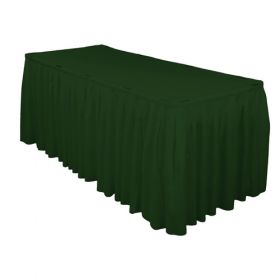 Hunter Green Accordion Pleat Table Skirt 21 Foot