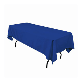 60x102 in. Rectangular Polyester Tablecloth Cobalt Blue