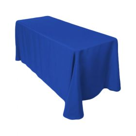 Royal Blue Tablecloth Polyester Rectangle 90x132 inch