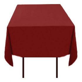 Square Polyester Tablecloth Burgundy 70x70 inch