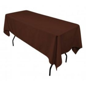 Chocolate Tablecloth Polyester Rectangle 60x102 inch