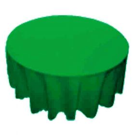 108 in. Round Polyester Tablecloth Forest Green