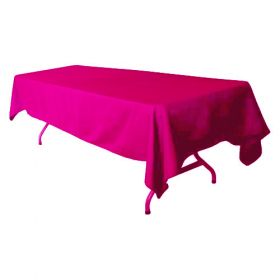 Fuchsia Tablecloth Polyester Rectangle 60x126 inch