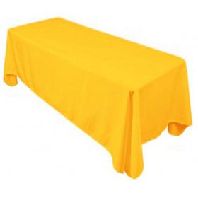 Gold Tablecloth Polyester Rectangle 90x132 inch