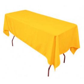 Gold Tablecloth Polyester Rectangle 60x126 inch