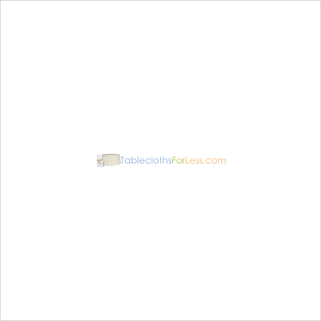 90 in. Round Polyester Tablecloth Gold