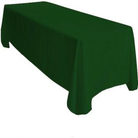 Hunter Green Tablecloth Polyester Rectangle 90x132 inch