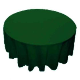 108 in. Round Polyester Tablecloth Hunter Green