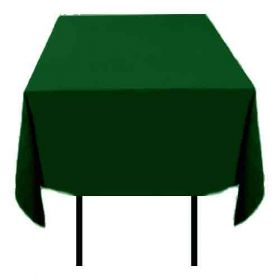 Square Polyester Tablecloth Hunter Green 70x70 inch