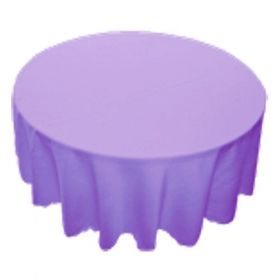 78 in. Round Polyester Tablecloth Lavender