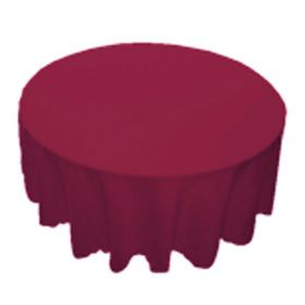 78 in. Round Polyester Tablecloth Light Plum