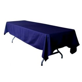 Navy Blue Tablecloth Polyester Rectangle 60x102 inch