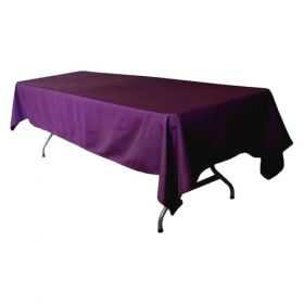 Purple Tablecloth Polyester Rectangle 60x102 inch