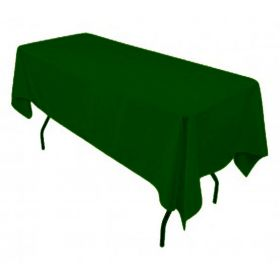 Hunter Green Tablecloth Polyester Rectangle 60x126 inch
