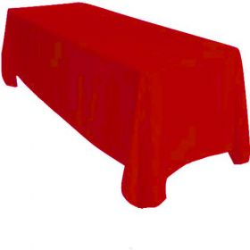 Red Tablecloth Polyester Rectangle 90x132 inch