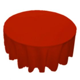 120 in. Round Polyester Tablecloth Red