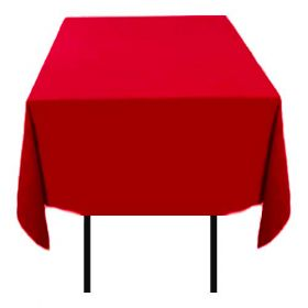 Square Polyester Tablecloth Red 70x70 inch