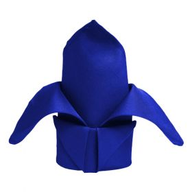 17x17 inch Square Polyester Royal Blue Napkins