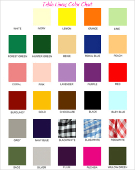 Tablecloths Color Chart